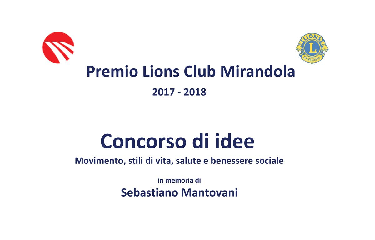Concorso Di Idee Movimento Stili Di Vita Salute E Benessere Sociale Premio Lions Club Mirandola 2017 2018 In Memoria Di Sebastiano Mantovani 2 Marzo 2018 Mantovanibenne